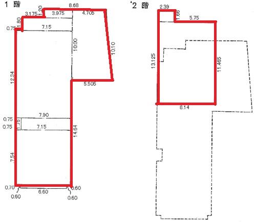 東区泉1 チサンマンション栄リバーパーク 1-2階図面