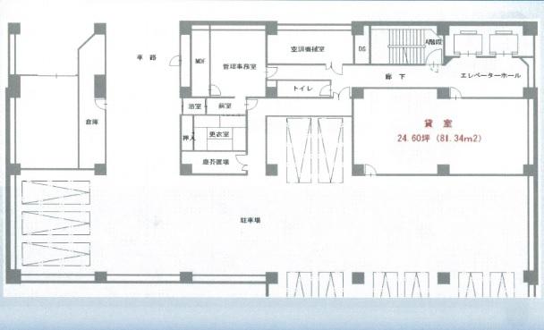 名古屋リザンビル地下1階 間取り図