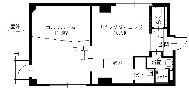 スタメン泉ビル5階間取り図