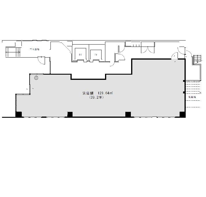 栄4 シェルブルー栄広小路ビル 1階平面図