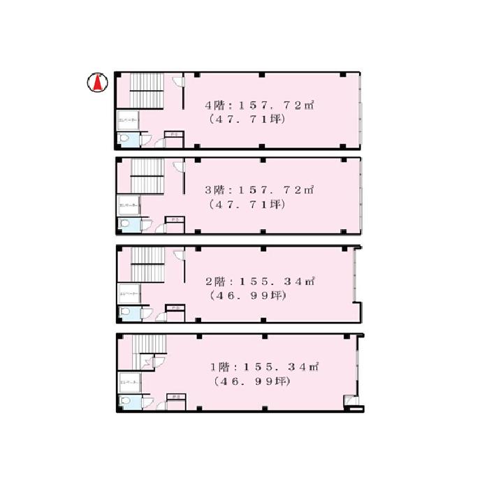 大須2 名古屋質屋協同組合ビル 平面図