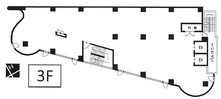 ライオンビル3階間取図