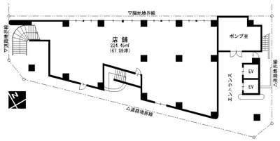ライオンビル1階間取図