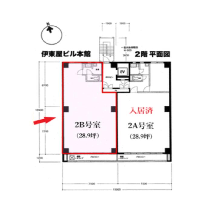 栄3 伊東屋中駒ビル本館 平面図