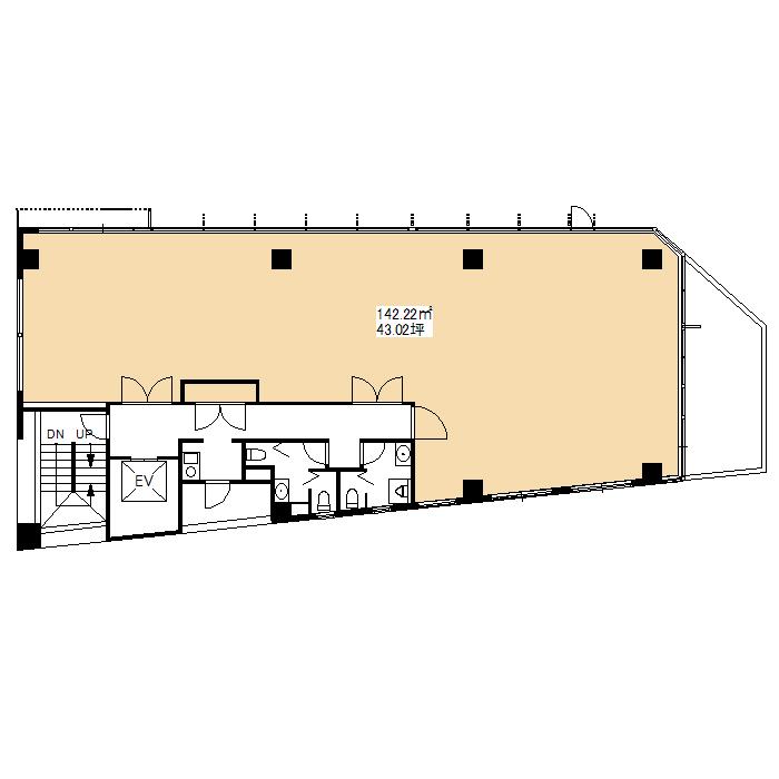 名駅南2 (仮称)名駅南2丁目新築ビル 平面図
