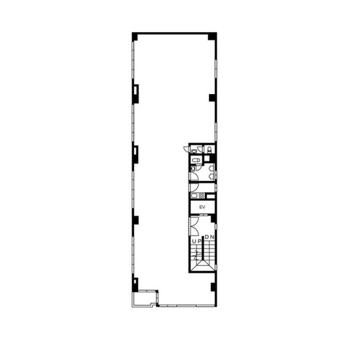 栄2 モリシマビル 平面図