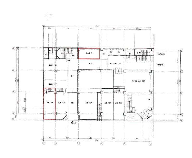 中央広小路ビル1階区画図