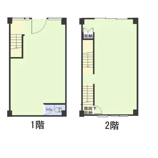 栄3 栄三丁目石野店舗 1-2階図面