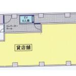 ツバサビル1階平面図 大須四丁目