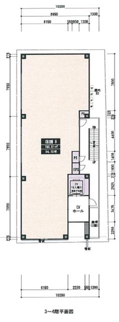 金山2 (仮称)金山2丁目新築テナントビル 平面図