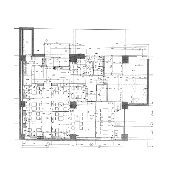 栄3 プリンセスガーデンホテル地下1階 平面図