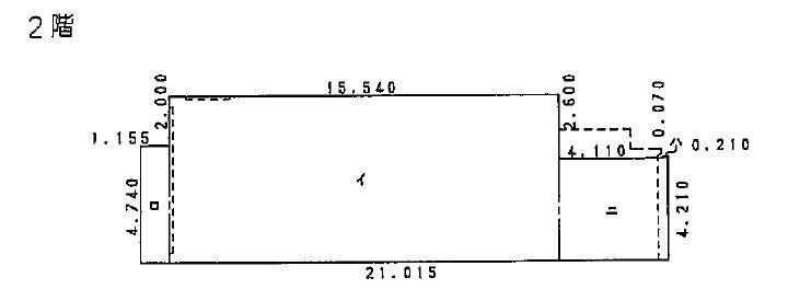 車道2階貸店舗・貸事務所平面図