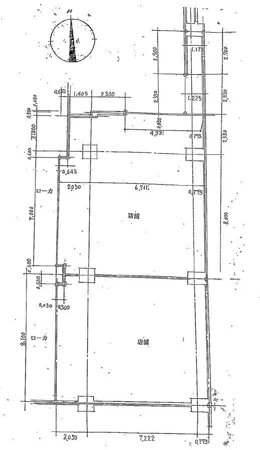 プリンセスタウン1階7・9号室 図面