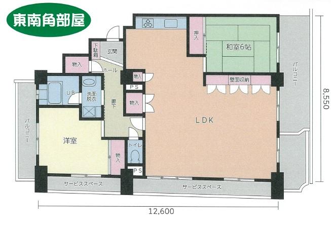 シーアイマンション南大津1202号室間取図