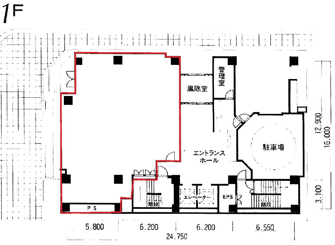 久屋パークビル1階 図面
