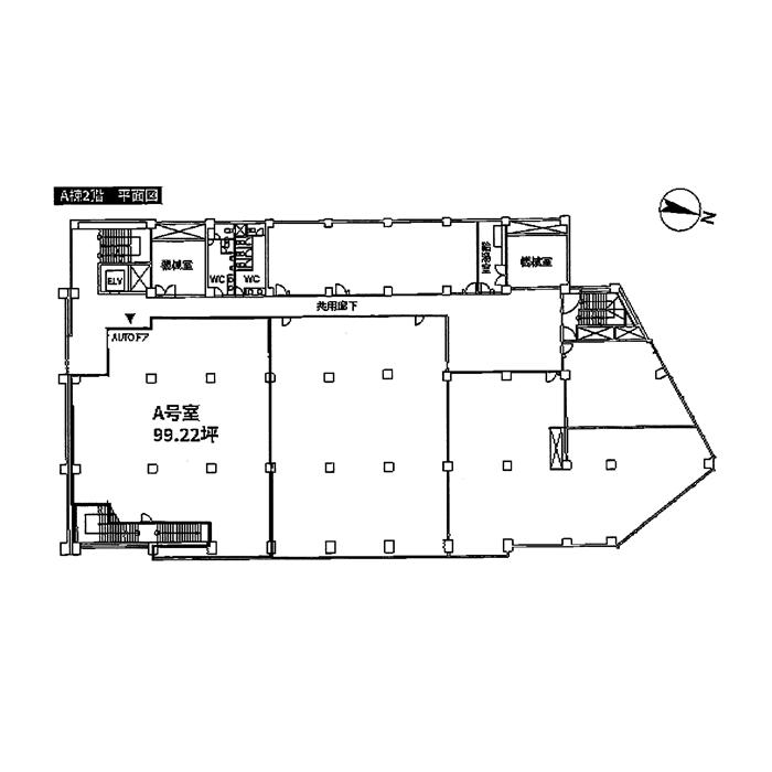 東山通5 東山ビル 平面図