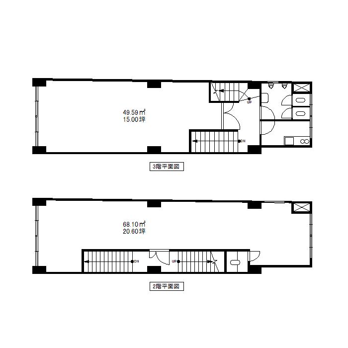 栄3 栄長谷川ビル 平面図(2階)