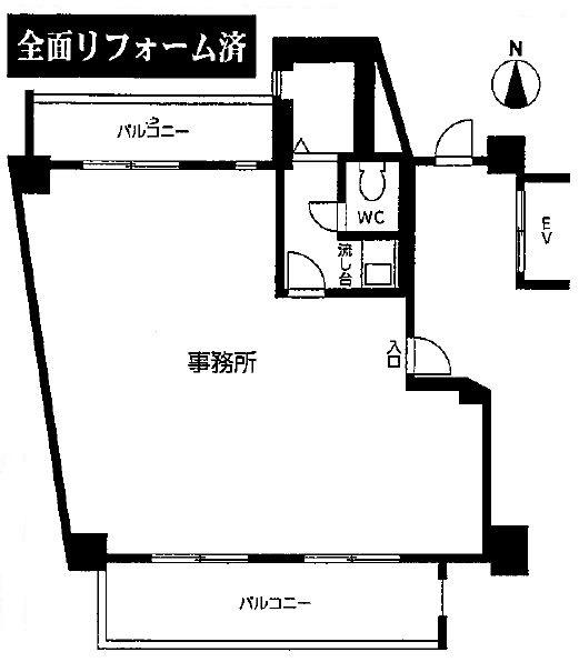 シーアイマンション南大津505号室間取図