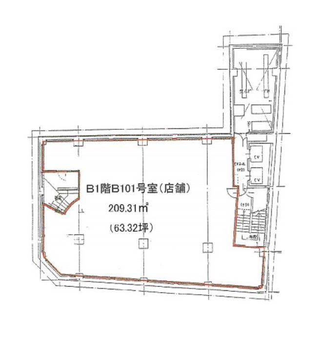 名駅南1 第二原ビルディング 平面図(間取)