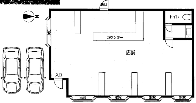 中区正木三丁目店舗(間取)