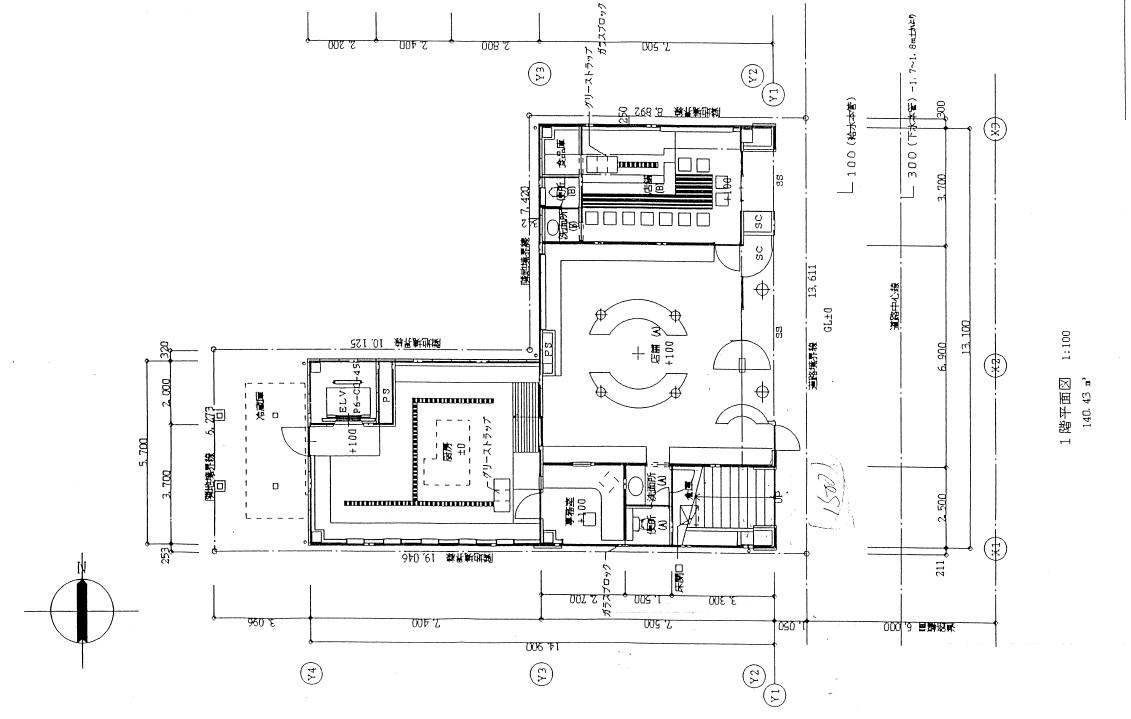 ナカゲンビル1階 平面図