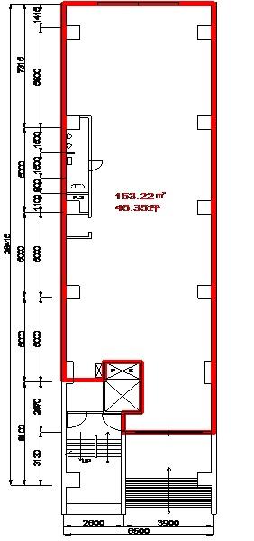 DK丸の内ビル1階平面図
