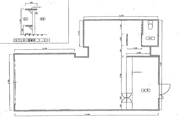 ジャルダン内田橋1B平面図