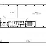金山共同ビル3階間取図