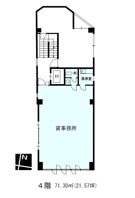 エイテックイヅミ4階間取り図