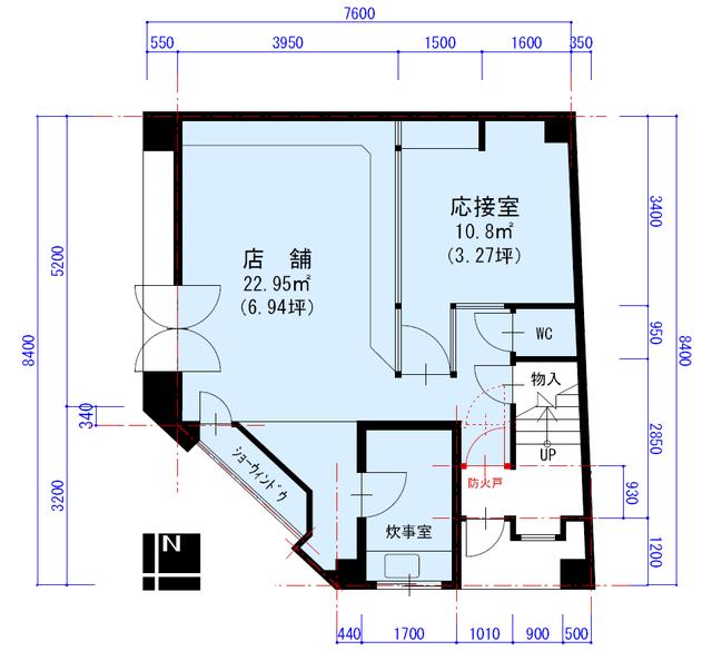 栄3 マエマス画廊貸店舗 平面図(間取)