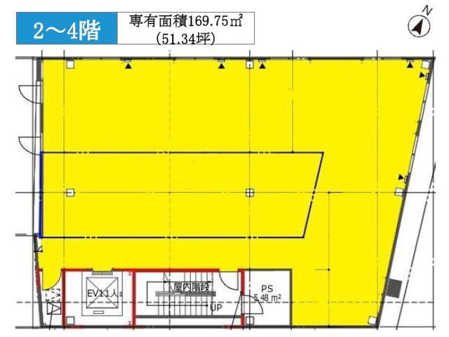 名駅2 コスモス名駅2丁目ビル 平面図