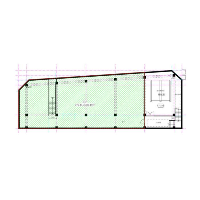 今池5 今池センタービル 平面図