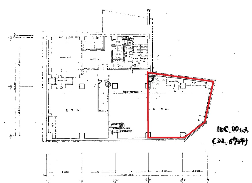 GS栄ビル地下1階平面図