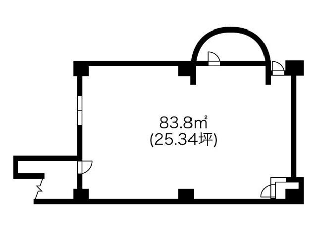 協和名駅ビル1階 間取り図