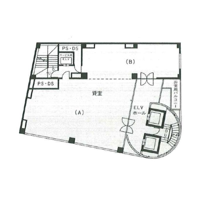 栄4 エアリビル 平面図