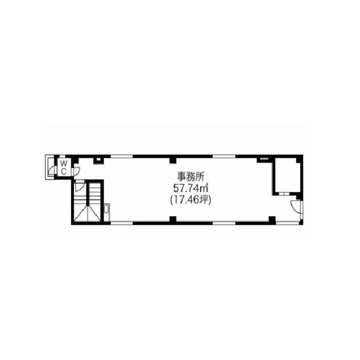 栄5 栄ハクレイビル 平面図