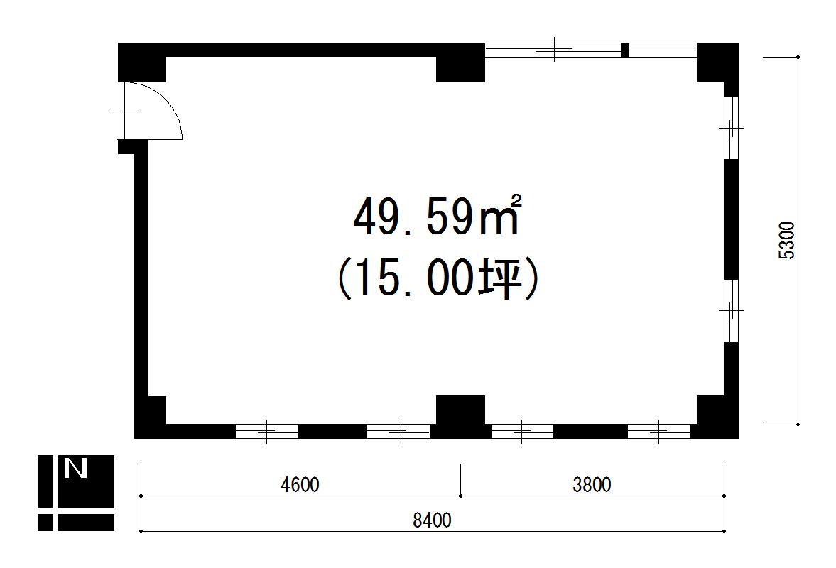 栄3 サカイ栄ビル 平面図
