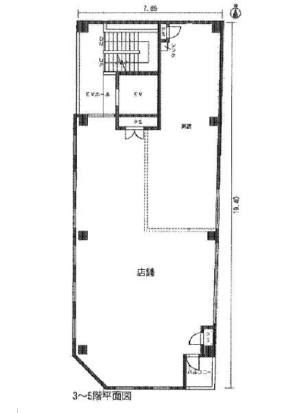 Plumeria名駅二丁目 3-5階図面