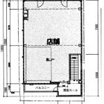 大須仁王門フロント3階平面図