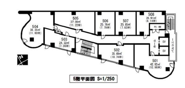 ライオンビル5階間取図