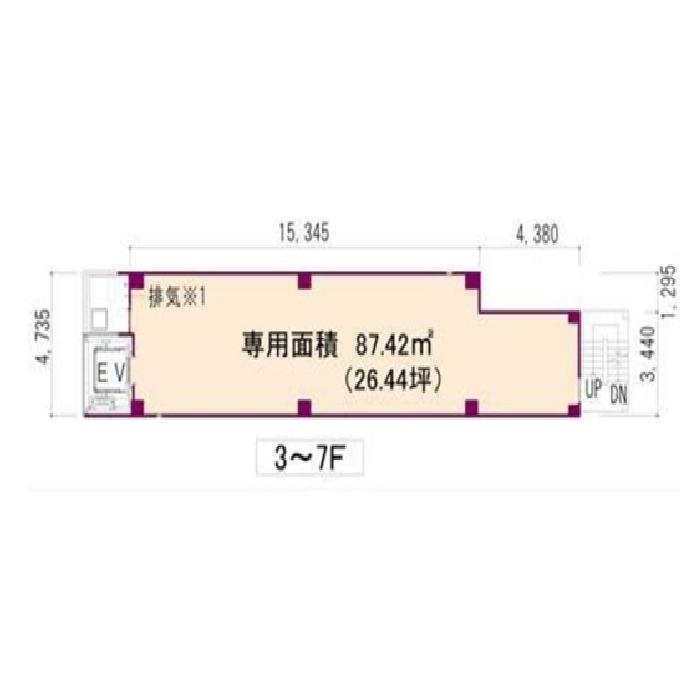 名駅4 名駅クリスタルビル 平面図