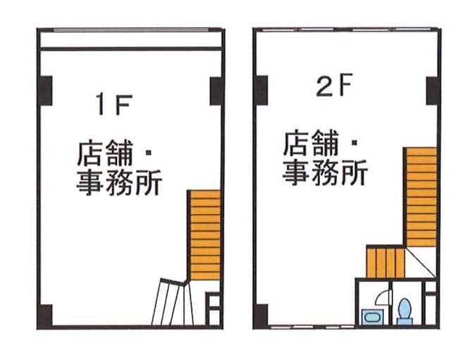【納屋橋1棟貸ビル:49.41坪】地下鉄東山線「名古屋」駅から徒歩10分!広小路通り沿いです!(間取)
