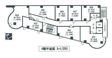 ライオンビル4階間取図