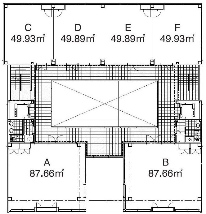 サカエサウススクエア1階 間取り図