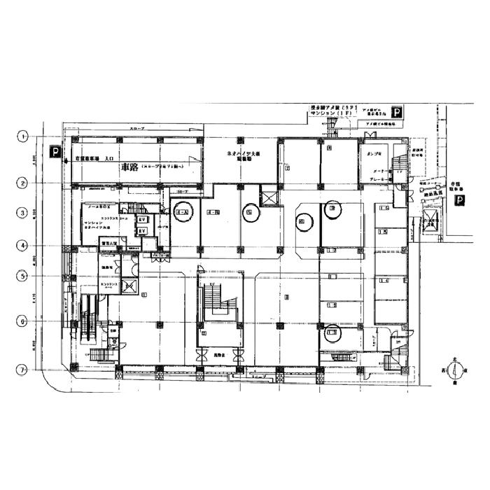 大須3 第2アメ横ビル 平面図