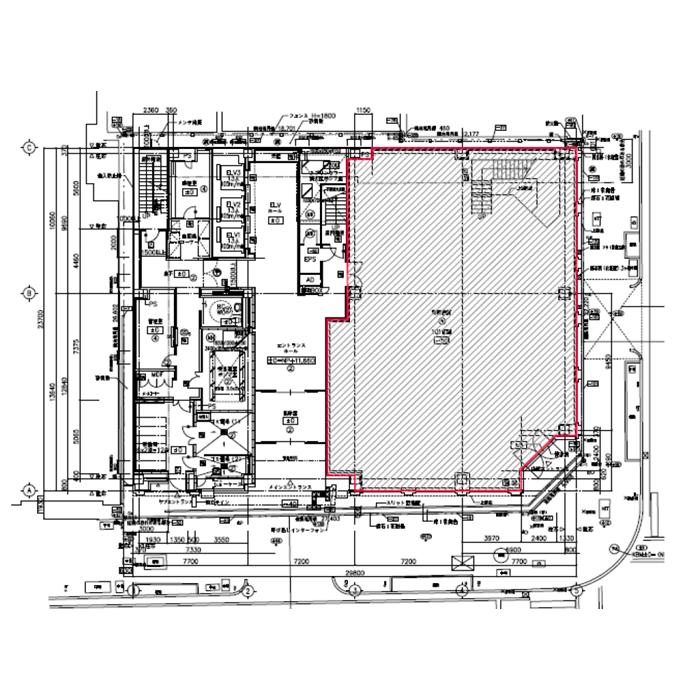 栄3 名古屋証券取引所ビル 1階平面図