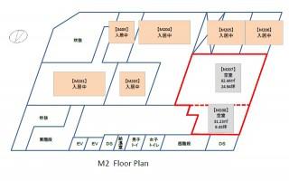 中央広小路ビル中2階区画図