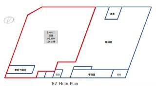 中央広小路ビル地下2階区画配置図