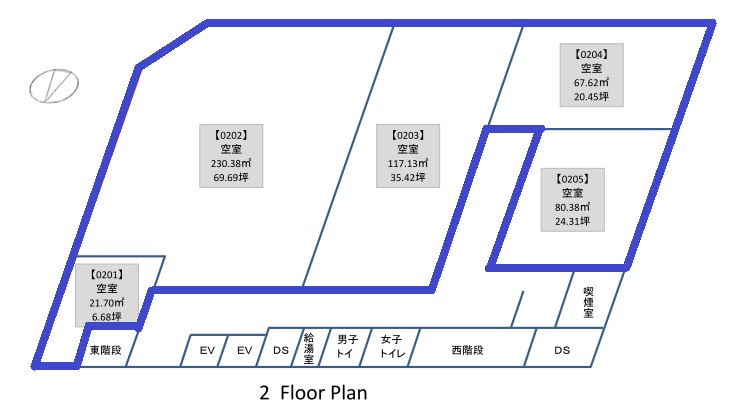 中央広小路ビル2階区画図
