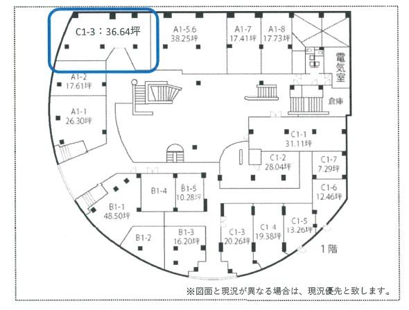 シンシア山手1階間取図